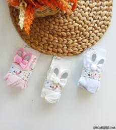 Tavşan Kulak Kız Çocuk Külotlu Çorap