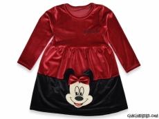 Kadife Minni Kız Çocuk Elbise