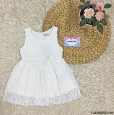 Fransız Dantelli Kız Bebek Zarif Elbise