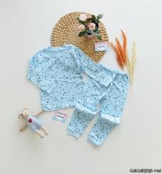Ay Yıldızlı Erkek Bebek Pijama Takımı