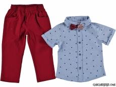 Yıldız Desen Gömlekli Erkek Çocuk Takım