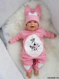 Kalpli Şapkalı Bebek Tulum