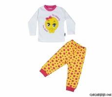 Utangaç Kız Çocuk Pijama Takımı
