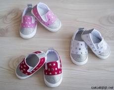 Yıldızlı Simli Kız Bebek Ayakkabı