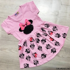 Sevimli Fare Kız Çocuk Elbise