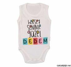 Her Şey Seninle Güzel Dedem Askılı Bebek Badi