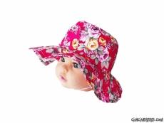 Kız Çocuk Çiçekli Fötr Şapka