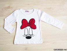 Puanlı Fiyonk Kız Çocuk Penye Sweatshirt