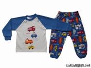 Araba Baskılı Bebe Pijama