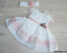 Prenses Kız Bebek Bandanalı Elbise