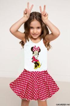 Fareli Şeker Kız Çocuk Elbise