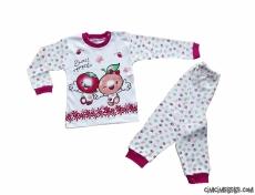 Minik Elma Kız Çocuk Pijama Takımı