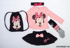 Çantalı Çoraplı Sevimli Miki Takım