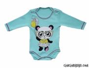 Panda Baskılı Bebe Badi