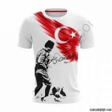 Kahraman Atatük Baskılı T-Shirt