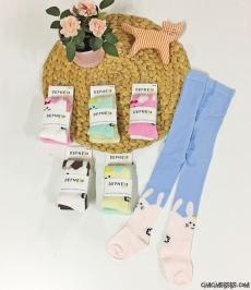 Tavşan Figürlü Kız Çocuk Külotlu Çorap