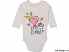 Love Dad Uzun Kollu Bebek Badi