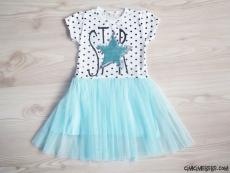 Star Tütülü Kız Çocuk Elbise
