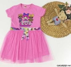 Tüllü Kız Çocuk Elbise