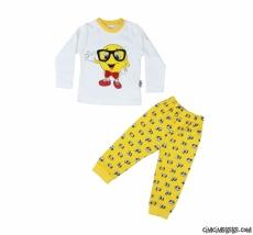 Emoji Erkek Çocuk Pijama Takımı
