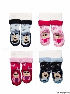 Figürlü Havlu Çarık Çorap
