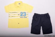 Erkek Çocuk Gömlekli Şortlu Takım