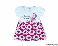 Papatyalı Sevimli Kız Çocuk Elbise