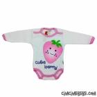 Cute Berry Çıtçıtlı Kız Bebe Body