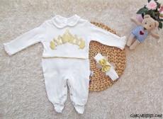 Prenses Bandanalı Bebek Tulum