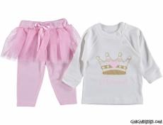 Prenses Tütülü Taytlı Bebek Takım