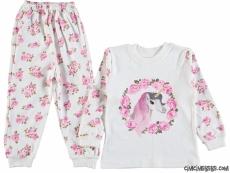 Güllü Kız Çocuk Pijama Takım