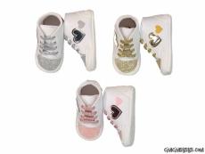 Simli Kalpli Deri Bebek Ayakkabı