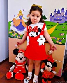 Minili Çoraplı Kız Çocuk Elbise