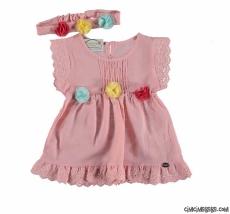 Bandanalı Kız Bebek Elbise