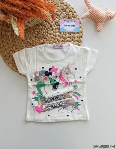 Unicorn Baskılı Kız Çocuk T-Shirt