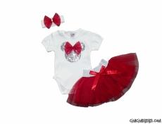 Fareli Tütülü Bandanalı Bebek Takım