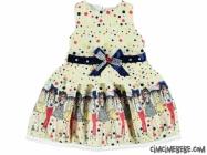 Tarz Kız Jakarlı Kumaş Elbise