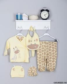 Zürafalı 5'li Bebe Zıbın
