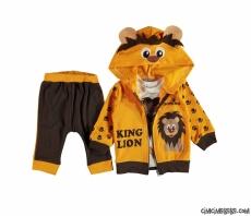 Aslan Kral Hırkalı 3'lü Bebek Takım