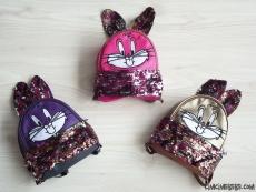Tavşan Figürlü Pullu Kız Çocuk Çanta