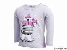 Kardan Adamlı Penye Kız Sweatshirt