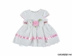 Kız Bebek Çiçek Detaylı Elbise