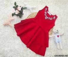 Kolyeli Kız Çocuk Dalgıç Elbise