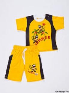 Summer Time Baskılı Şortlu Bebe Takım