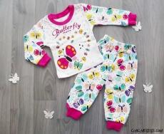 Butterfly Bebek Pijama Takımı