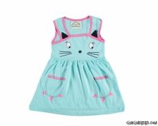 Kedicik Kız Çocuk Elbise