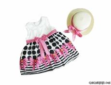 Bayram Şekeri Fötr Şapkalı Elbise