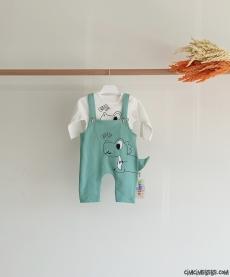 Minik Dino Baskılı Bebek Slopet Takım