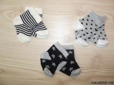 Erkek Bebek 3'lü Çorap Seti