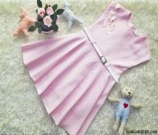 Kemerli Şık Kız Çocuk Elbise